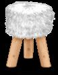 Sgabello in pelliccia