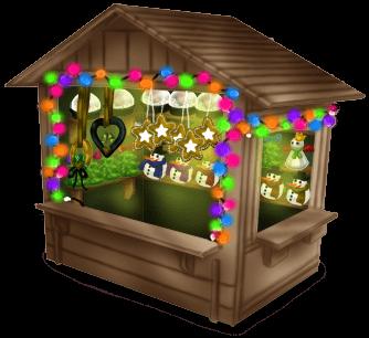 Capanna del mercatino di Natale