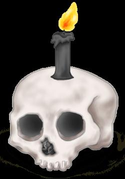 Candela Teschio Halloween 2018