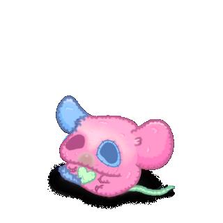 Adotta un Mouse Peluche rosa
