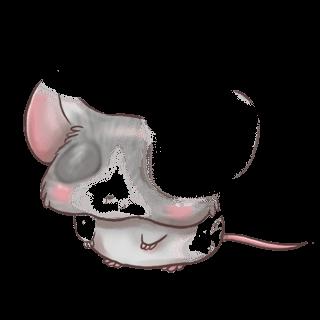 Adotta un Mouse Bianco e nero